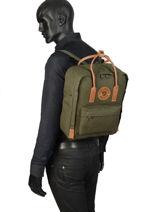 Backpack Kånken 1 Compartment Fjallraven Green kanken n°2 23565-vue-porte