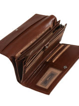 Continental Wallet Leather Katana Brown tampon 253050-vue-porte