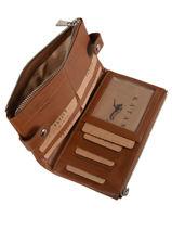 Purse Leather Katana Brown tampon 253118-vue-porte