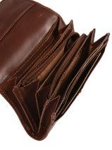 Purse Leather Katana Brown tampon 253041-vue-porte
