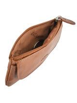 Purse Leather Katana Brown tampon 253120-vue-porte