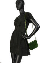 Tempo Leather Crossbody Bag Milano Green tempo TE18061-vue-porte