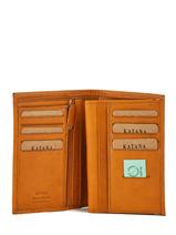 Wallet Leather Katana Yellow basile 853017-vue-porte