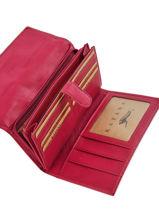 Continental Wallet Leather Katana Pink basile 853050-vue-porte