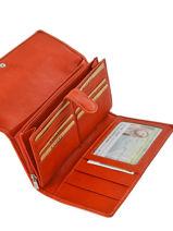 Continental Wallet Leather Katana Orange vachette gras 853050-vue-porte