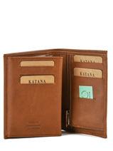 Wallet Leather Katana Beige tampon 253019-vue-porte