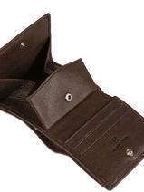 Purse Leather Hexagona Green instinct 667291-vue-porte