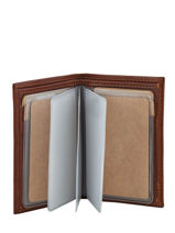 Card Holder Leather Katana Brown tampon 253038-vue-porte