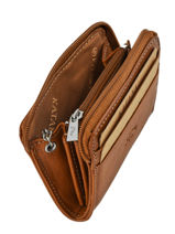 Purse Leather Katana Brown tampon 253042-vue-porte