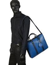Longchamp LE FOULONNÉ BICOLORE Serviette Noir-vue-porte