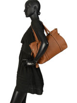Leather Tote Bag Tradition Etrier Brown tradition EHER25-vue-porte