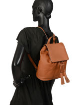 Leather Backpack Tradition Etrier Brown tradition EHER26-vue-porte