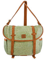 Crossbody Bag Paille Mila louise Green paille 23687P2