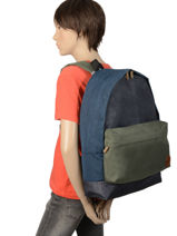 Backpack 1 Compartment Quiksilver Blue youth access QYBP3478-vue-porte