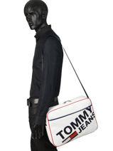 Tommy Jeans Messenger Bag Tommy hilfiger White tjm modern AM04413-vue-porte
