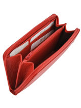 Leather Wallet Original N Nathan baume Red original n 388N-vue-porte