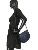 Longchamp Cavalcade matelassÉ Messenger bag Black-vue-porte