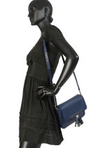 Longchamp Game on Messenger bag Blue-vue-porte