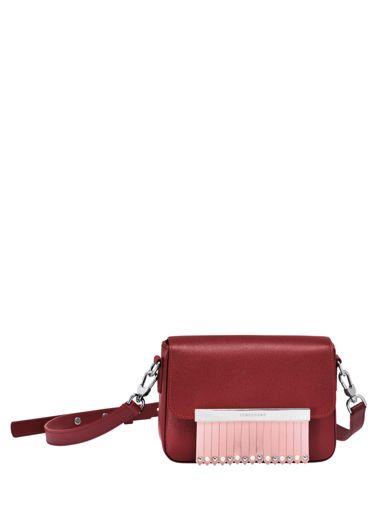 Longchamp Game on Messenger bag Red