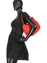 Shoulder Bag  Leather Crinkles Red 80855-vue-porte