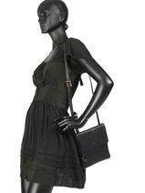 Shoulder Bag  Leather Crinkles Black 4346-vue-porte