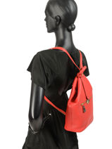 Backpack Crinkles Red 9972-vue-porte