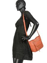 Shoulder Bag Soft Vintage Leather Lancaster Brown soft vintage 86-vue-porte