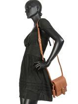 Shoulder Bag Desert Daisy Leather Burkely Brown desert daisy 542083-vue-porte