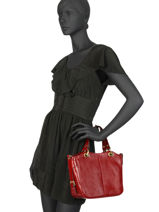 Top Handle Republique Leather Hexagona Red republique 114577-vue-porte