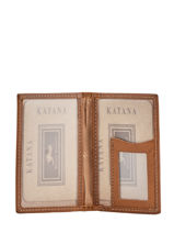 Card Holder Leather Katana Beige tampon 253102-vue-porte