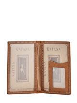 Card Holder Leather Katana Yellow tampon 253102-vue-porte