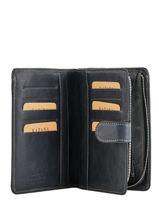 Purse Leather Katana Blue basile 853124-vue-porte