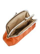 Purse Leather Hexagona Orange coconut E77270-vue-porte