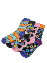 Gift Box Happy socks Black pack XFST09-vue-porte