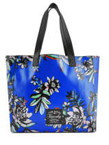 Sac Shopping Elaina Print Superdry Bleu women bags G91107MT