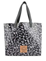 Elaina Print Shopping Bag Superdry Black women bags G91107MT