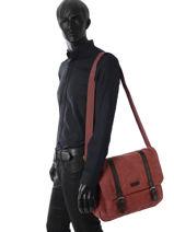 Besace Business Etrier Rouge canvas ECAN02-vue-porte