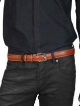 Ceinture Homme Ajustable Classic Petit prix cuir Orange classic 82-30-vue-porte