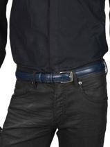 Ceinture Homme Ajustable Classic Petit prix cuir Bleu classic 82-30-vue-porte