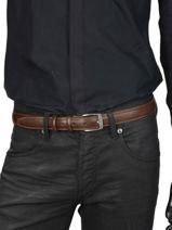 Ceinture Homme Ajustable Classic Petit prix cuir Marron classic 82-30-vue-porte
