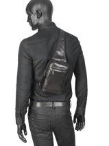 Leather Jasper Crossbody Bag Arthur et aston Black jasper 1589-40-vue-porte