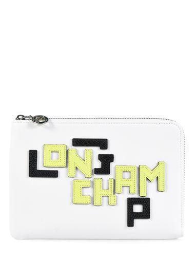 Longchamp Le pliage cuir lgp Clutches White