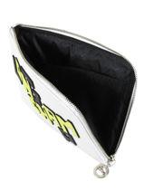 Longchamp Le pliage cuir lgp Clutches White-vue-porte