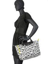 Longchamp Le pliage lgp Sacs porté main Blanc-vue-porte