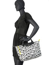 Longchamp Le pliage lgp Sacs porté main Noir-vue-porte