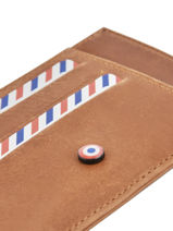 Card Holder Leather Larmorie Brown vintage PAUL-VIN-vue-porte