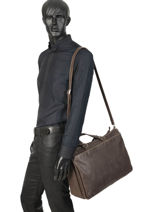 Leather Destroy Business Bag Arthur et aston Brown destroy 62-1073-vue-porte