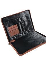 Leather Pretty Portfolio Hexagona Brown pretty 467490-vue-porte