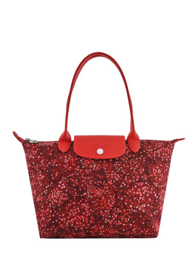 Longchamp Le pliage fleurs Hobo bag Red