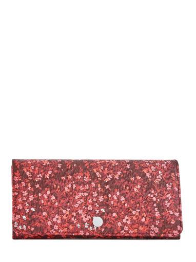 Longchamp Le pliage fleurs Portefeuilles Rouge